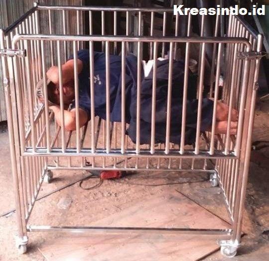 Jasa Ranjang Bayi Berbahan Stainless, Hasil Kuat dan Awet