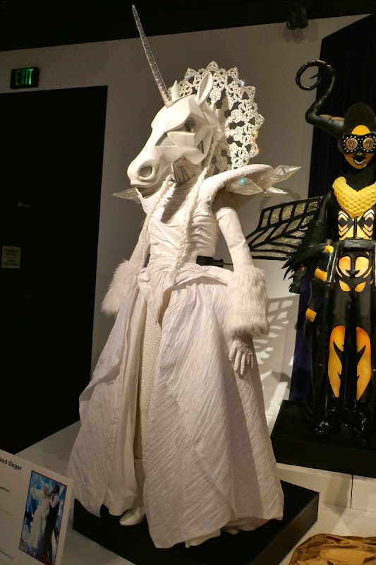 Tori Spelling Masked Singer Unicorn costume