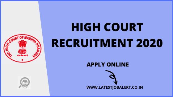 High Court Job: High Court Recruitment 2020 Assistants & Operators online form|Apply online