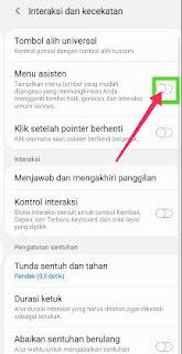 Samsung A71 fitur menu asisten
