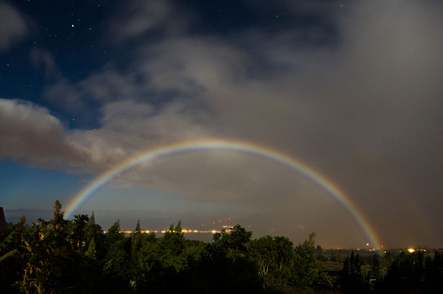 Moonbow(Lunar rainbow), Kula, Hawaii