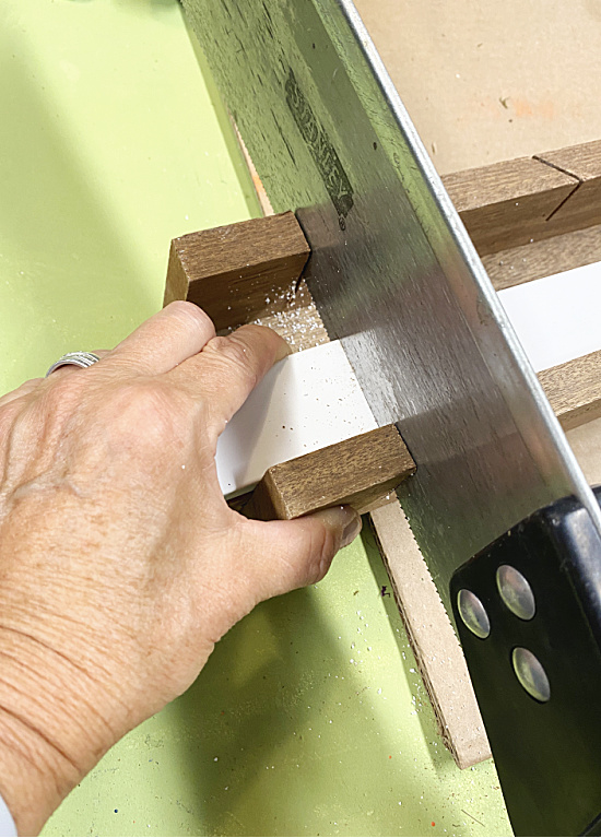 cutting pvc with a miter saw
