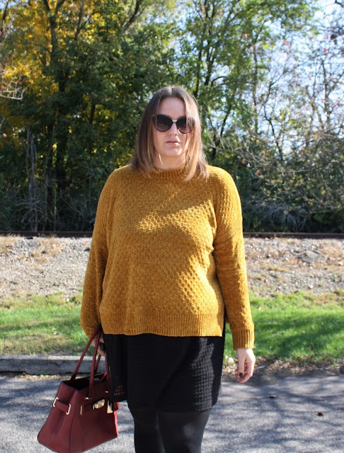 kinsey yellow sweater harley davidson boots fashion fall look