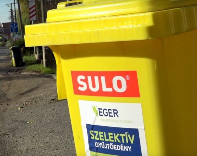 Hiába a sok hulladék, Egerben nem mindenhol ürítik a szelektív kukákat