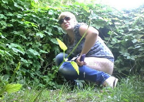 PissHunters 9187-9202 (Girls pee outdoors hidden camera. Hidden cam in public toilet)