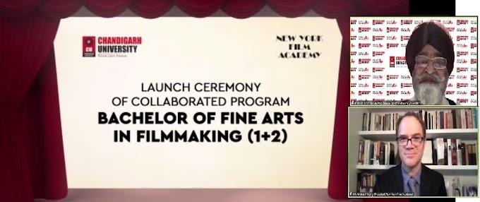 World's leading film school New York Film Academy inks MoU with Chandigarh University