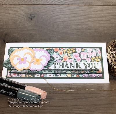 slimline pansy petals suite card 1