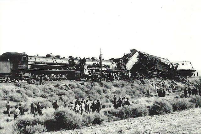 Accidente ferroviario de Velilla de Ebro (Zaragoza) en 1940.
