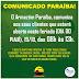 Comunicado Paraíba para este feriado 19 de outubro.