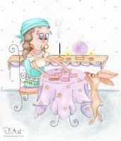 bunny's misfortune watercolor illustration by tawnya boe art