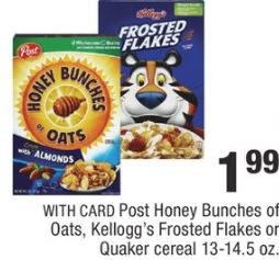 Post Honey Bunches Of Oats, Kellogg's
