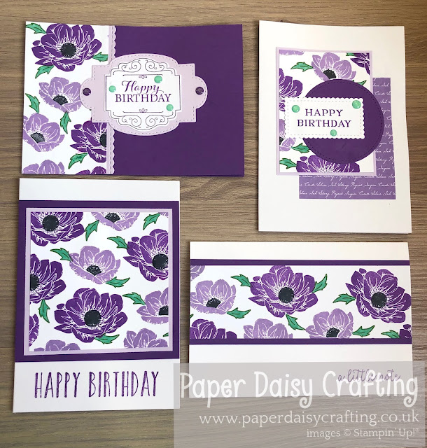 Floral Essence Stampin Up One Sheet Wonder