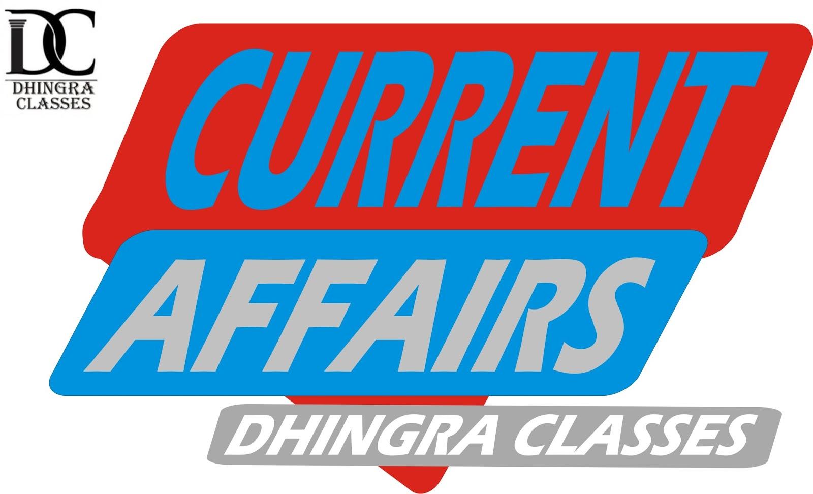 Dhingra Classes Raisinghnagar: Current Affairs : 14-06-2019