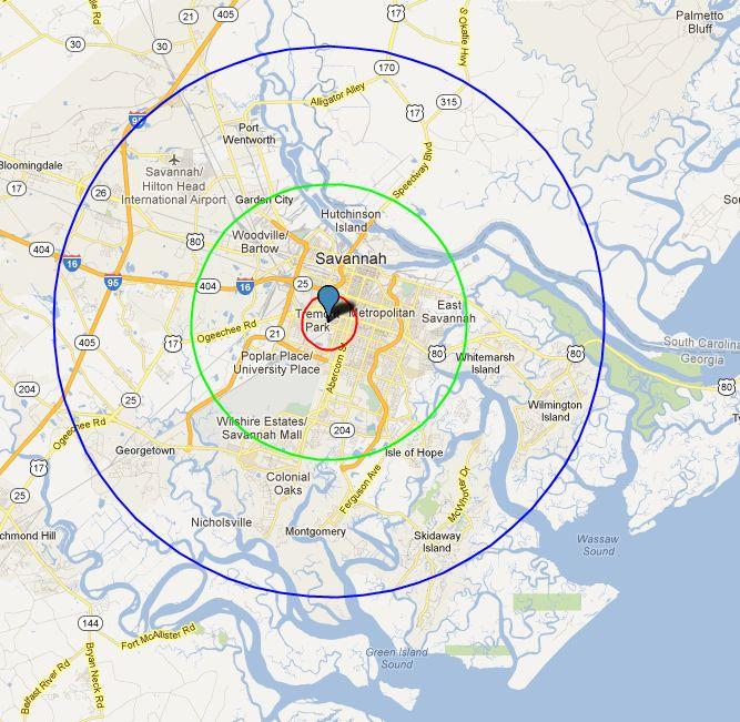 Radius Map Tool Morehouse Fall 2012: Free Map Tool   Map with Radius Radius Map Tool