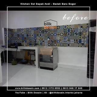 before kitchenset kedung badak baru bogor