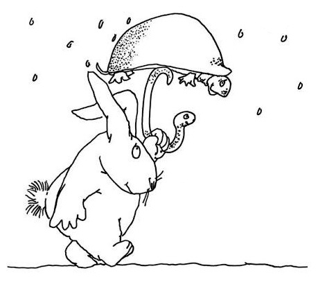 shel silverstein coloring pages   Shel Silverstein Runny Babbit Sketch Coloring Page