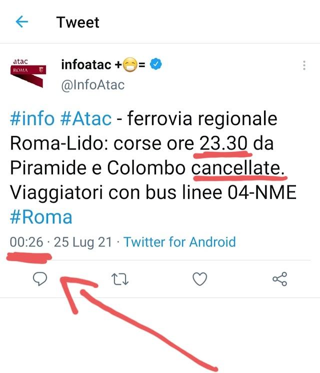 La Roma-Lido e l'inefficienza di Atac
