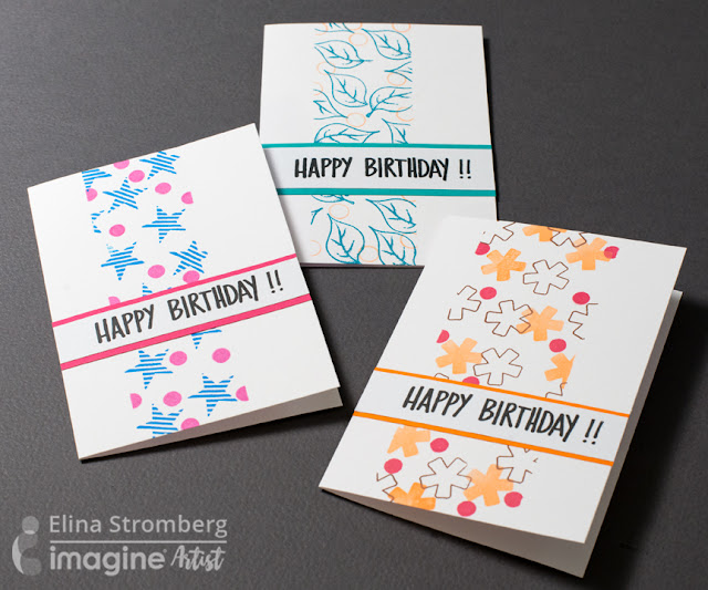Cardmaking: Colourful CAS cards