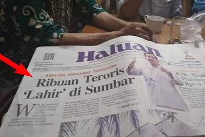 """Gara-gara Tolak Islam Nusantara?, Fitnah """"Ribuan Teroris Lahir Di Sumbar"""", Warga Bertekad Suara Jokowi Nol Besar di Sumbar"""