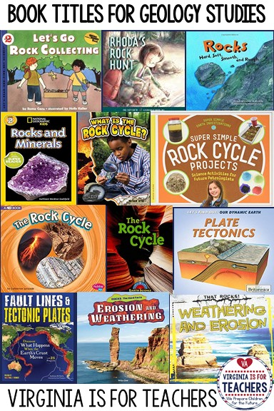 Are you a fifth grade teacher in Virginia? Do you teach a geology unit to your students? This round up post for SOL 5.7 #rocksandminerals has book recommendations, links and resources for geology studies that you don't want to miss. Check it out and pin for when the time is right.