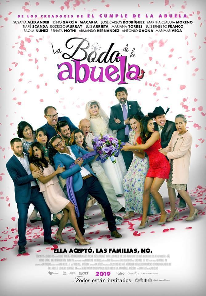 La Boda de la Abuela 2019 HD 1080p Español Latino poster box cover