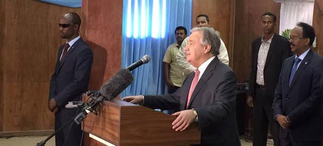 الأمم المتحدة تدين الهجوم على مقرها في الصومال فيما تؤكد دعمها لحكومة البلاد في سعيها إلى تحقيق الاستقرار