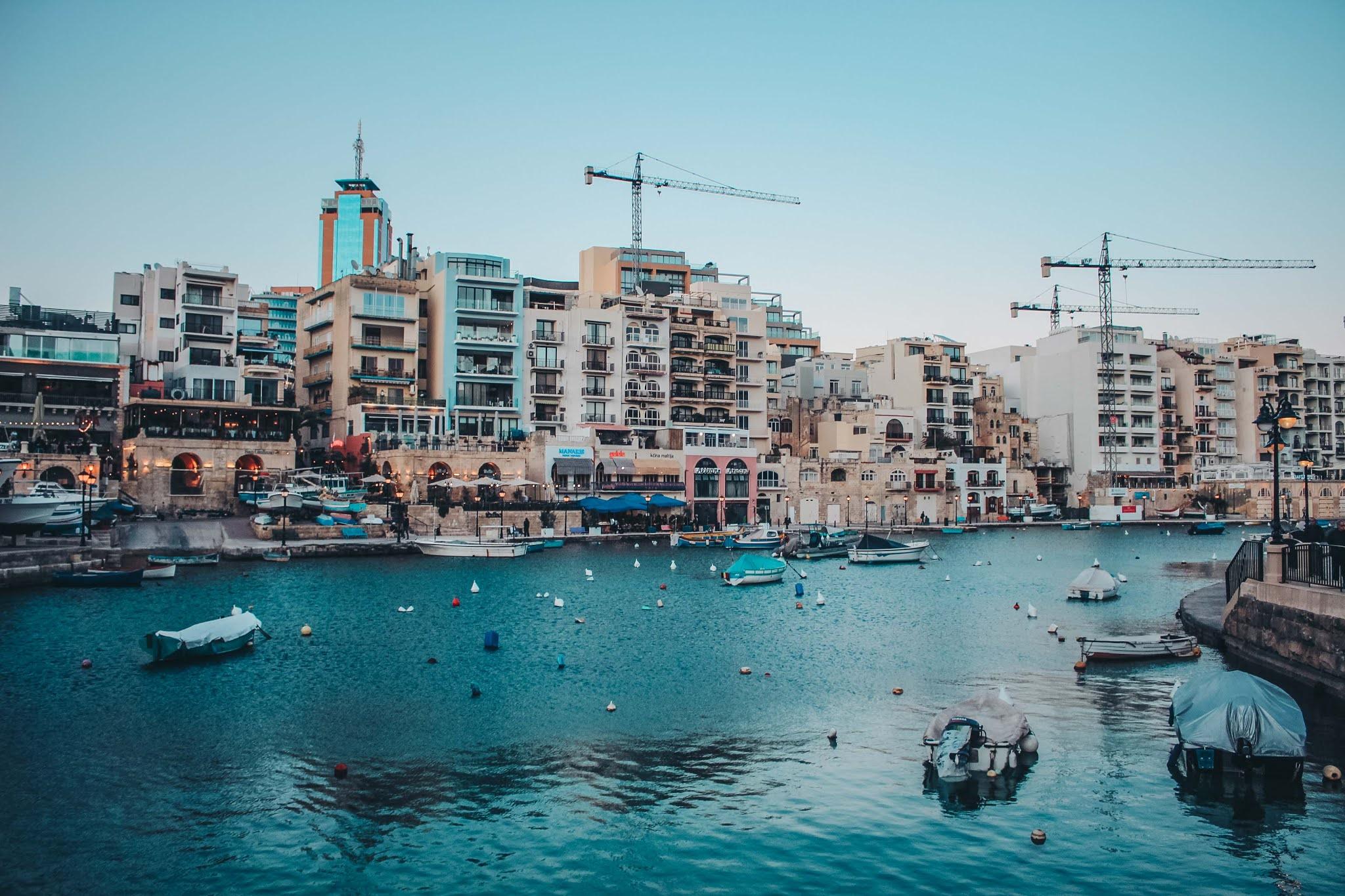 Malta St Julian's Hafen Bucht