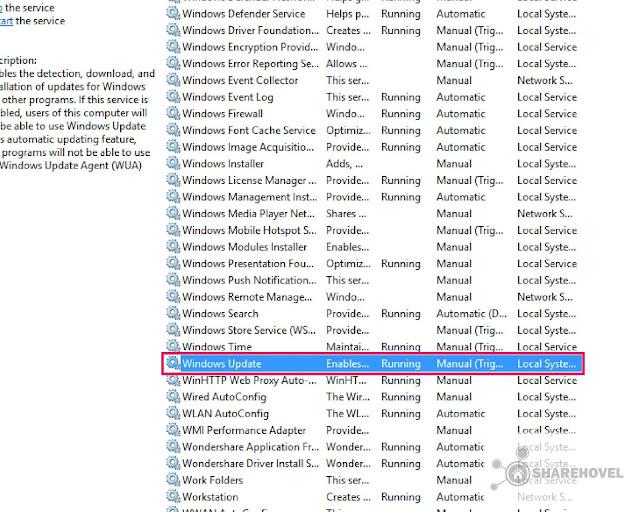 Setting Windows Update Cara Mematikan Menonaktifkan Windows Auto Update di Windows 10 - by sharehovel