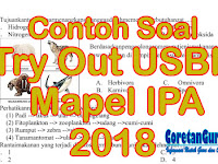 Contoh Soal Try Out SD Kelas 6 Pelajaran IPA Tahun 2018 Terbaru Paket I