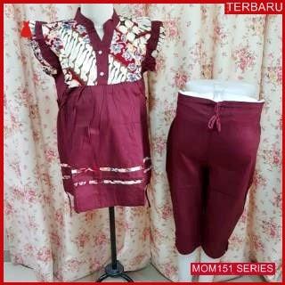 MOM151B21 Baju Setelan Hamil Batik Menyusui Bajuhamil Ibu Hamil