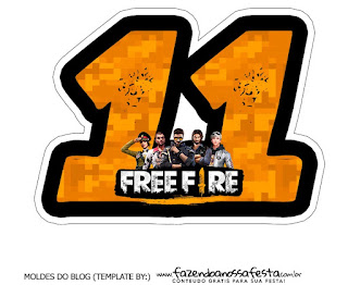 Free Fire: Free Printable Cake Toppers.