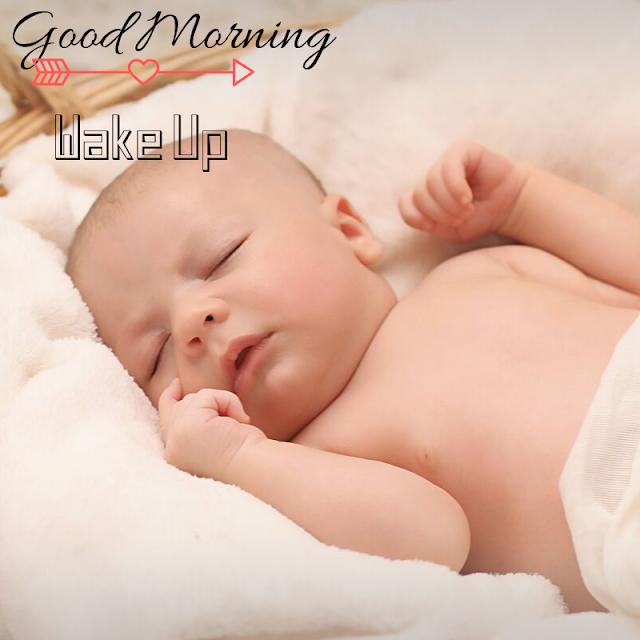 sleeping Baby girl Good Morning Images