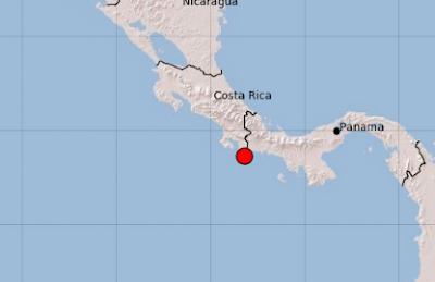 FUERTES SISMOS EN LA FRONTERA ENTRE COSTA RICA Y PANAMA