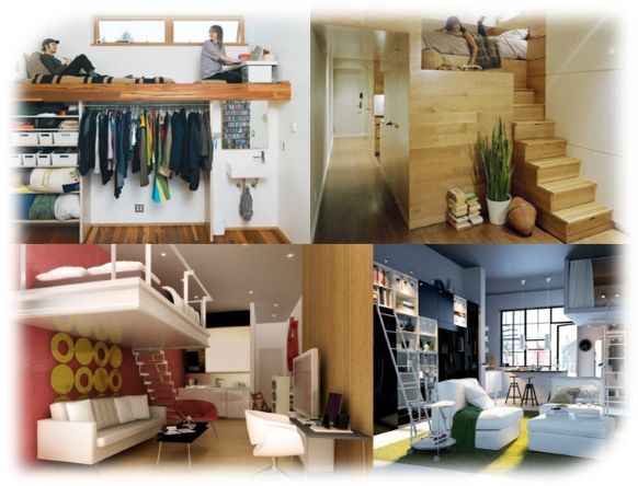 Gambar: Ilustrasi Pemanfaatan Ruang Apartemen yang Kecil