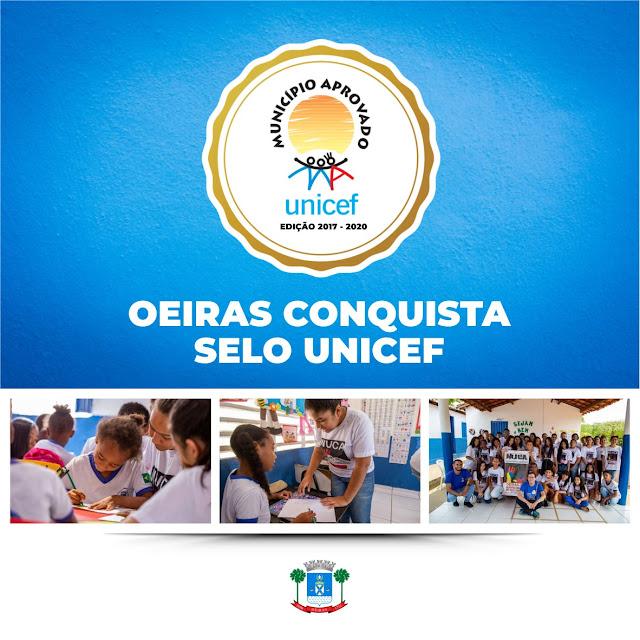 Oeiras conquista Selo UNICEF, gestão 2017-2020