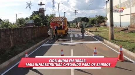 CIDELÂNDIA EM OBRAS: Prefeito Fernando Teixeira está mudando a cara da cidade!!!
