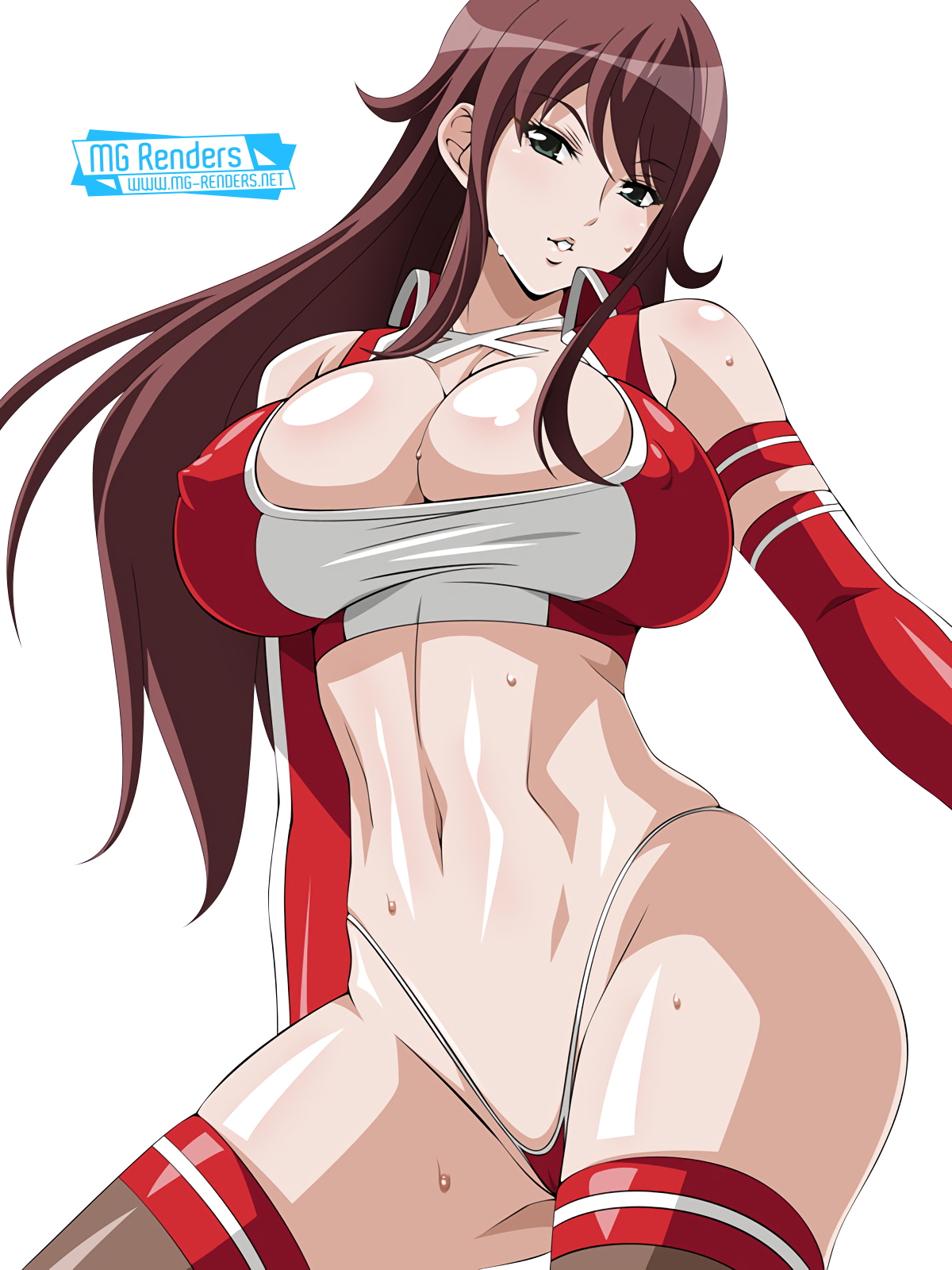 Tags: Anime, Render,  Akana Rui,  Chousoku Henkei Gyrozetter,  Huge Breasts,  PNG, Image, Picture