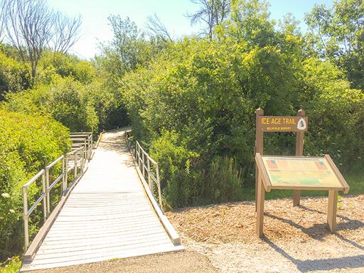 Ice Age Trail and Veterans Memorial Riverwalk in Delafield WI