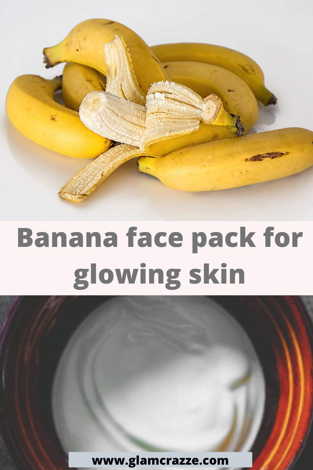 Banana and yogurt face pack for glowing skin