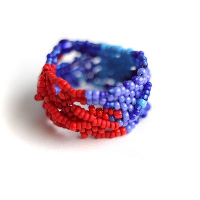 купить кольцо ручной работы из бисера необычные украшения ручной работы