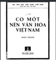 Có một nền văn hóa Việt Nam - Hoài Thanh