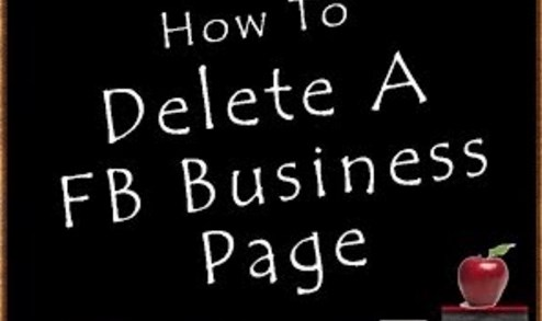 How to delete your business facebook page