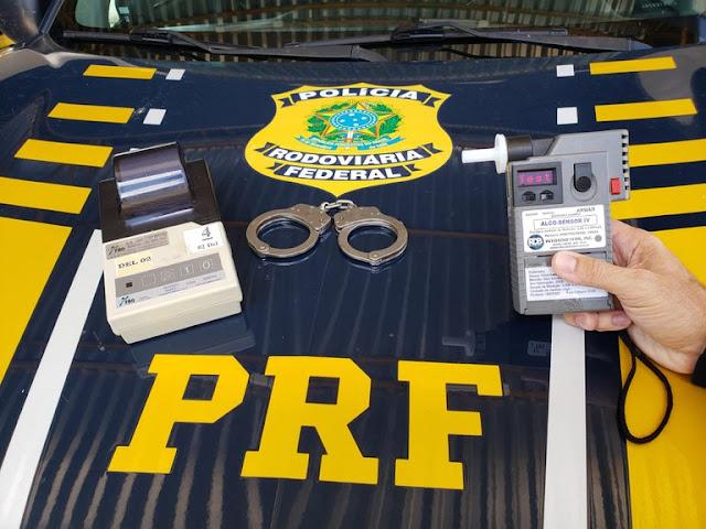 PRF prende homem por embriaguez ao volante no RN