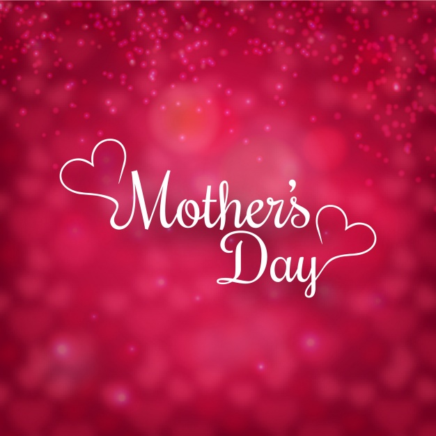 Mother's day with background defocused Free Vector