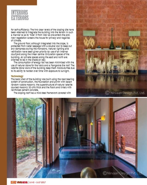 Moira House In VIVA GOA Magazine Anniversary Issue June 2017