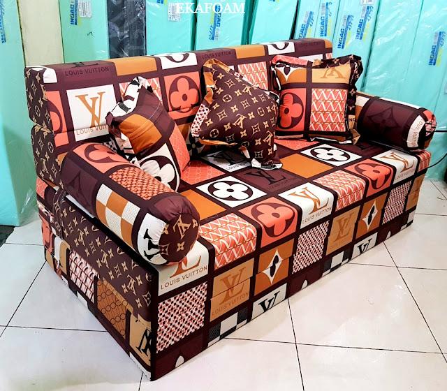 Sofa bed inoac LV atau elve Coklat mono