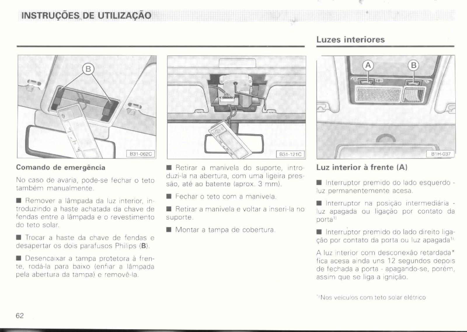 MANUAIS DO PROPRIETÁRIO GRÁTIS: MANUAL VW PASSAT ALEMÃO 1995