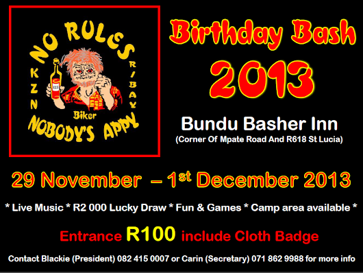 No Rules Richards Bay Birthday Bash 2013