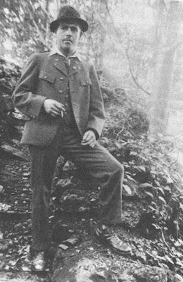 Franz Jäggerstater en un bosque austríaco