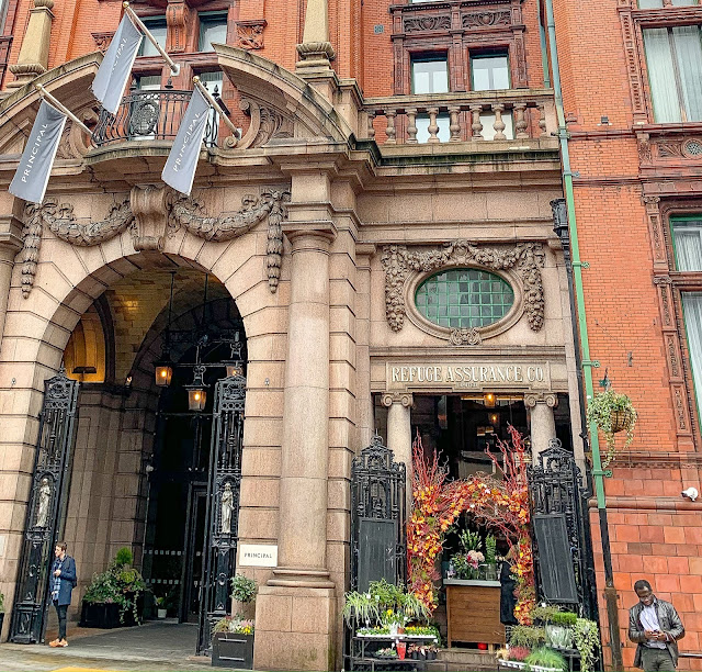 Principal Hotel Manchester Entrance and Flower Stall